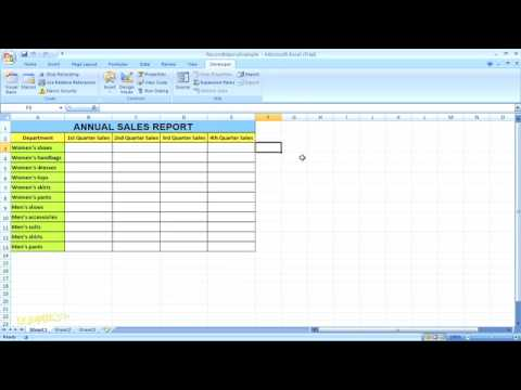 How to record a macro in excel 2007 for dummies youtube how to record a macro in excel 2007 for dummies ccuart Images