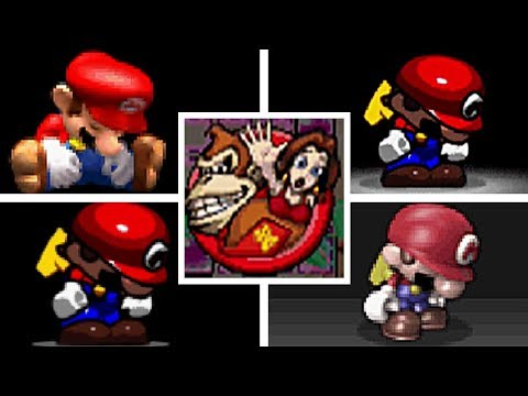 EVOLUTION OF MARIO VS DONKEY KONG SERIES DEATHS & GAME OVER SCREENS (2004-2016)