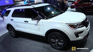 2018 Ford Explorer Sport - Exterior and Interior Walkaround - 2017 NY Auto Show