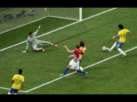 Brazil - Croatia 3-1 All Goals 2014 [Reaction]