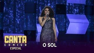 Estagiária da Record TV, Thalia Lima brilha ao cantar O Sol