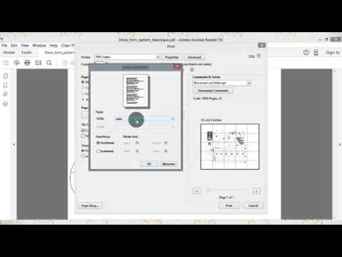How to print sewing patterns on your home printer! - YouTube