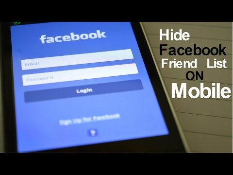 How do i hide friends on facebook app