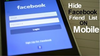 How to hide facebook friend list in mobile
