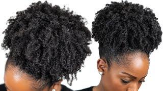 HIGH PUFF TUTORIAL On Medium Length Natural Hair (4B/4C Natural Hair) screenshot 5