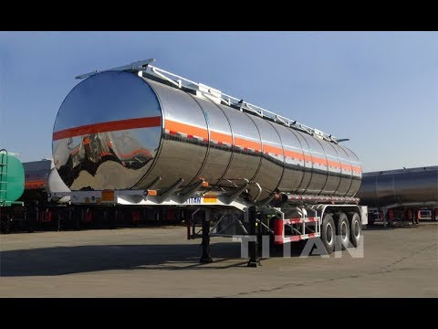 TITAN 46,000 liters fuel oil tank trailer stainless steel tanker semi  trailers for sale