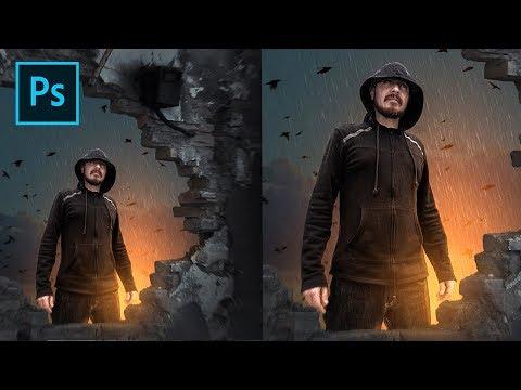 Create Dramatic Rain Effect In Photoshop | Photo Manipulation