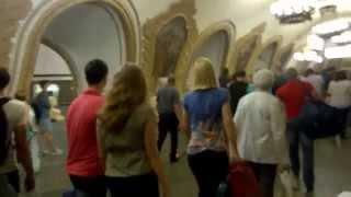 Quiet Sunday ride on the Moscow Metro