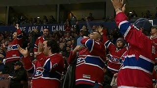 Canadiens fans in Vancouver make presence known after Mitchell goal