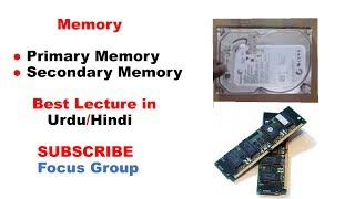 What is Memory    Primary Memory & Secondary Memory    Lecture in Urdu/Hindi