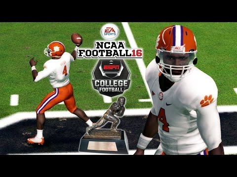 NCAA Football 16 | #1 Clemson at South Carolina | Heisman Watson Tho!