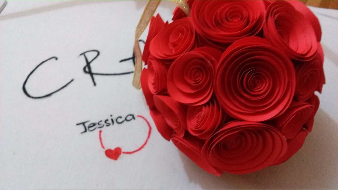 Diy paper rose diy wedding bouquet youtube izmirmasajfo