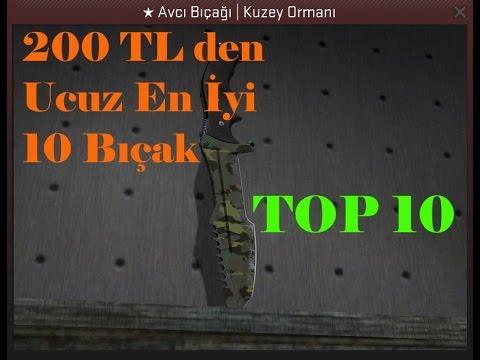 CS:GO Bilgileri - 200 TL 'den Ucuz En İyi 10 Bıçak (TOP 10)