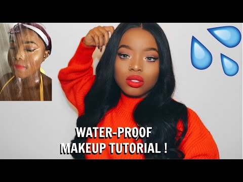 HOW TO MAKE YOUR MAKEUP WATERPROOF TUTORIAL 💦