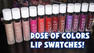 Dose of Colors Matte Lipstick Lip Swatches | Katie Danger