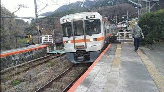 [低速入線]JR東海313系3000番台V13編成 普通沼津行 谷峨駅到着