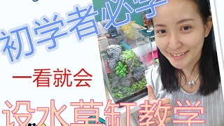 How to Setup plant tank step by step 初学者水草开缸方式