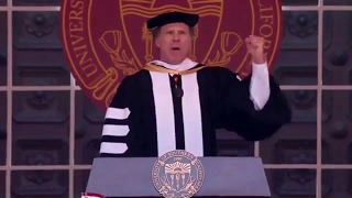 Will Ferrell USC Speech Funniest bits. Sings star trek theme.