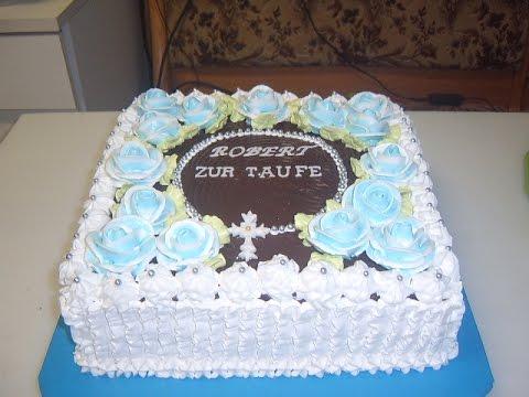 Торт кремовый на крестины