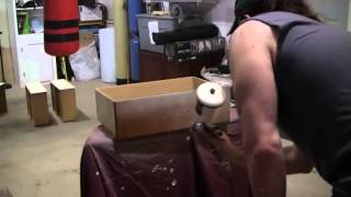 Painting A  Dresser Using A Husky Spray Gun