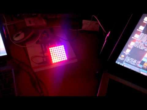 Arduino running Colorduino Plasma Sketch - Iteduino with LED Matrix