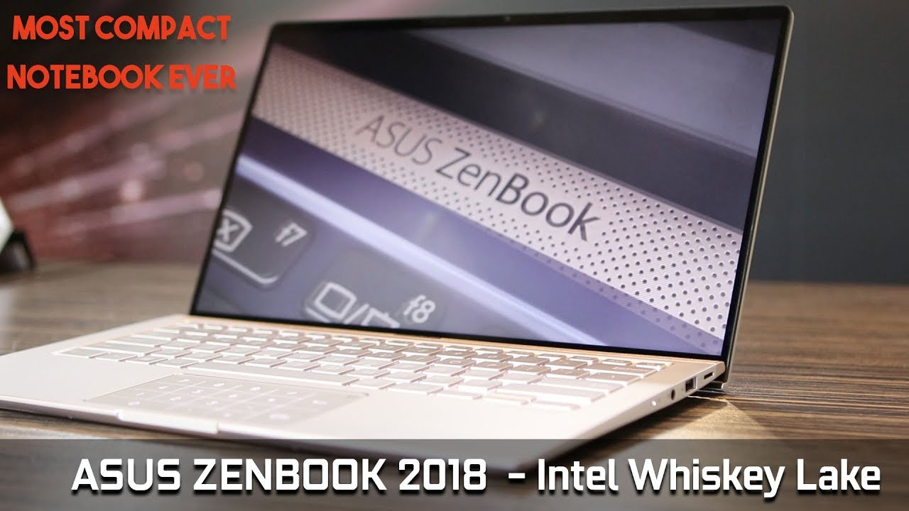 ASUS Zenbook 13 Preview | Thinnest Laptop In The World | Intel Whiskey Lake  CPU | IFA 2018