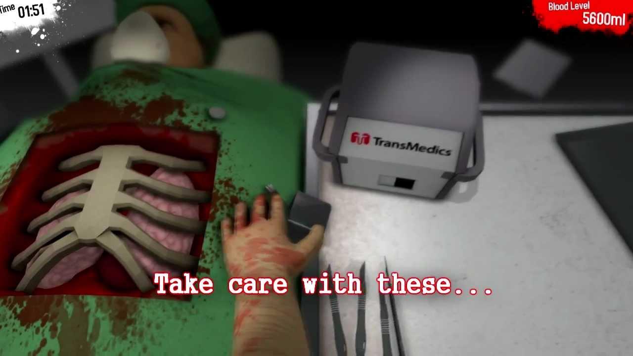 surgeon simulator 2013 successful heart transplant rating a