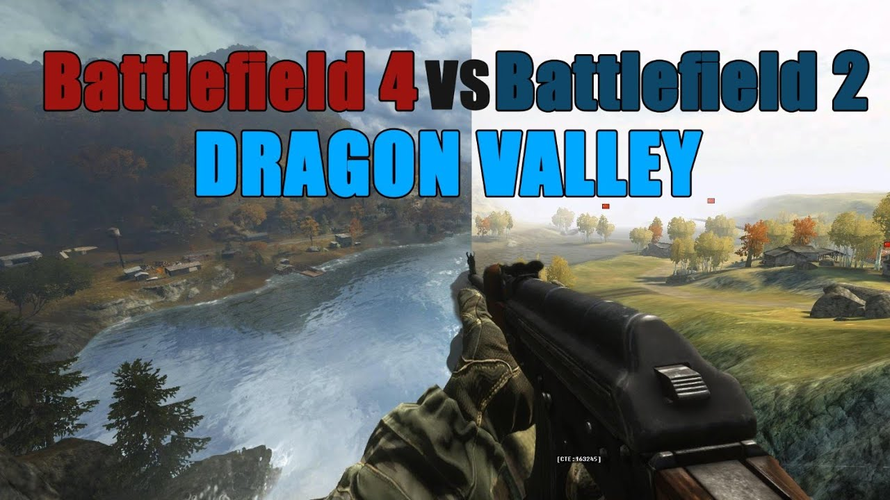 Dragon valley BF2 VS BF4 - the difference 10 years can make - YouTube