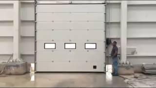 Endüstriyel Seksiyonel Giyotin Kapı Montajı- Ases Otomatik Kapı Sistemleri
