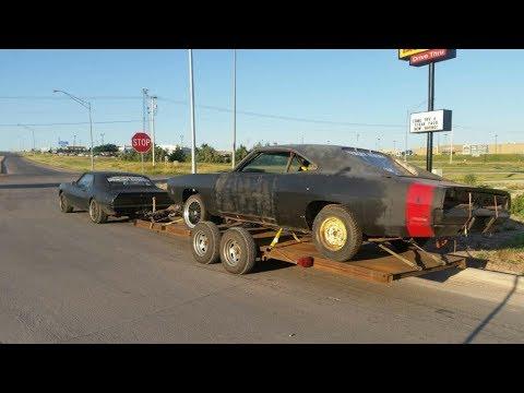 cheap 1969 charger junkyard project, general lee, 68 firebird barnfind ratrod roadtrip!