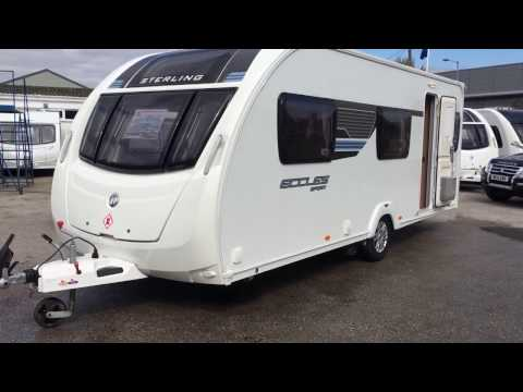 Sterling Eccles Sport 585 6 berth fixed bunk beds rear washroom 2013 �5 loads of extra fitted