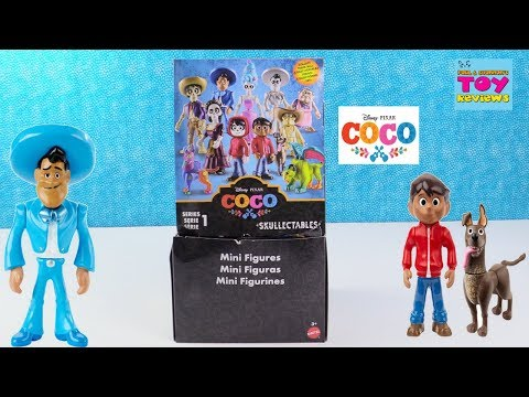 Disney Pixar Coco Movie Skullectables Series 1 Mini Figures Toy Review Opening | PSToyReviews