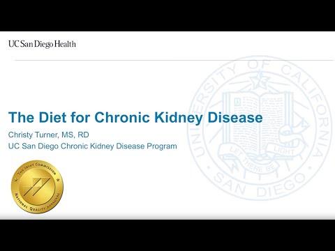 The Diet for Chronic Kidney Disease