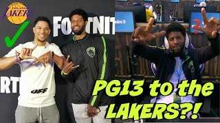 "PAUL GEORGE GETS RECRUITED TO THE ""LAKERS"" BY JOSH HART AT ""FORTNITE CELEBRITY PRO-AM""?! 😈"