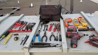 HVAC Tool Bag setup