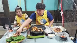 먹방MUKBANG 삼겹살구워먹기,김치국 Samgyeop…