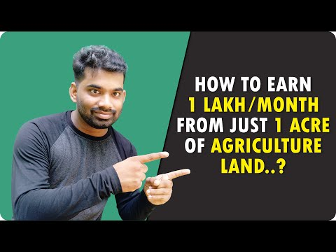 How to earn 1 lakh Per month from just 1 Acre of Agriculture Land?   Integrated Farm House Planning