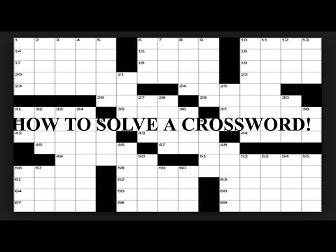 How To Solve A New York Times  Crossword Puzzle - Tips And Techniques