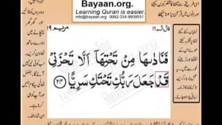 Gambar cover Quran in urdu Surah 19 Ayat 24 Learn Quran translation in Urdu Easy Quran Learning
