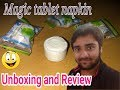 Compressed Magic Napkins Unboxing and Review in Hindi!!!!!