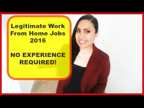 Work at home Jobs  [Legitimate work from home 2016] No Experience Necessary!