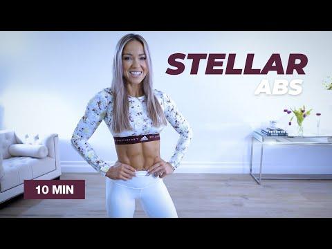 10 Min STELLAR ABS Workout / No Equipment - Caroline Girvan
