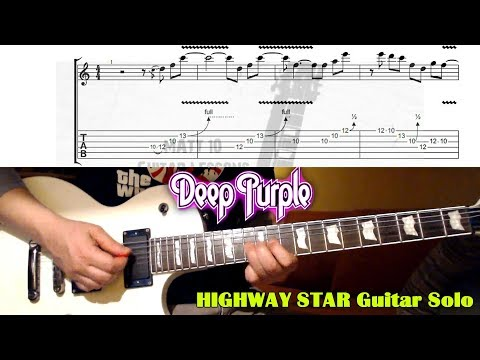 Highway Star SOLO (Deep Purple) GUITAR LESSON With TAB