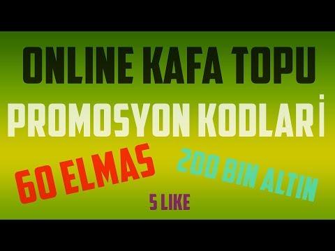 😆 Online Kafa Topu - Promosyon Kodları - 220 BİNLİK ALTIN VE 60 ELMAS KODLARI-