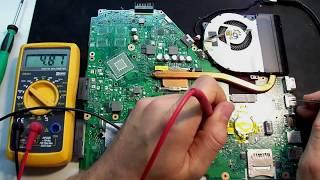 Ноутбук ASUS X550C не включается. Типовые проблемы ASUS №2