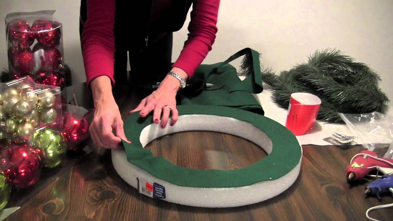 How To Christmas Ball Wreath Youtube