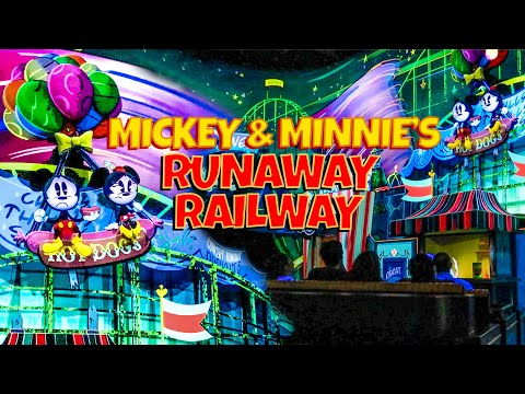 New Mickey and Minnie's Runaway Railway Full Multi-Angle On Ride POV