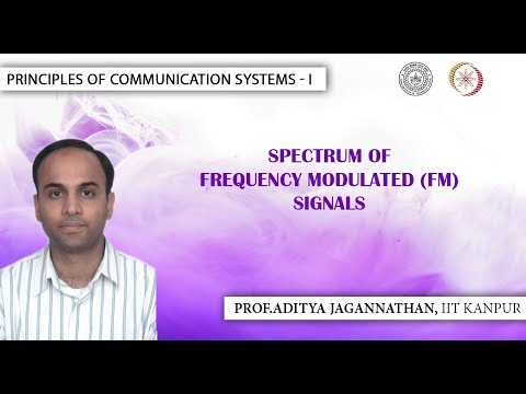 Lec 32 | Principles of Communication | Spectrum of Frequency Modulated Signals | IIT Kanpur
