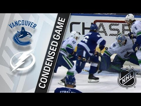 Vancouver Canucks vs Tampa Bay Lightning – Feb. 08, 2018 | Game Highlights | NHL 2017/18. Обзор