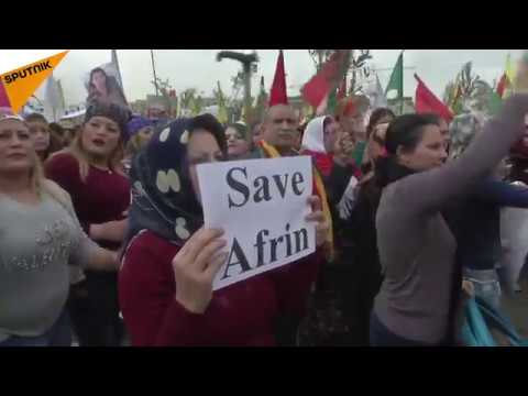 Pro-Kurdish Activists Protest Outside US Embassy In Beirut